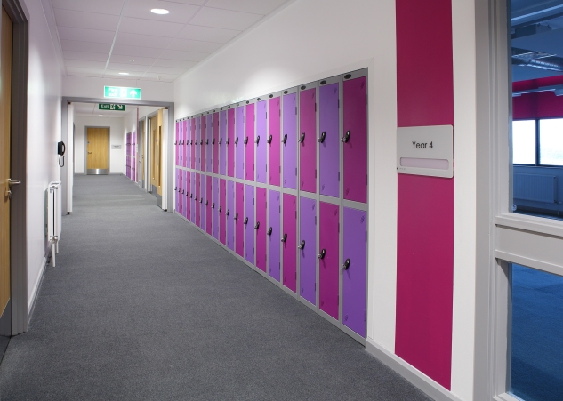Custom Colour Scheme school lockers
