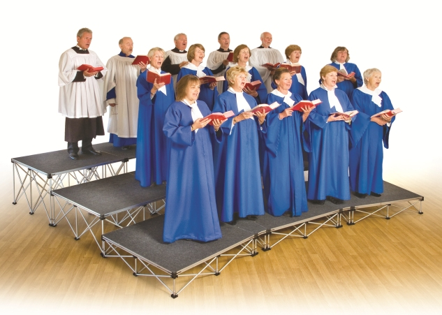 Ultralight Choral Risers for choirs and groups