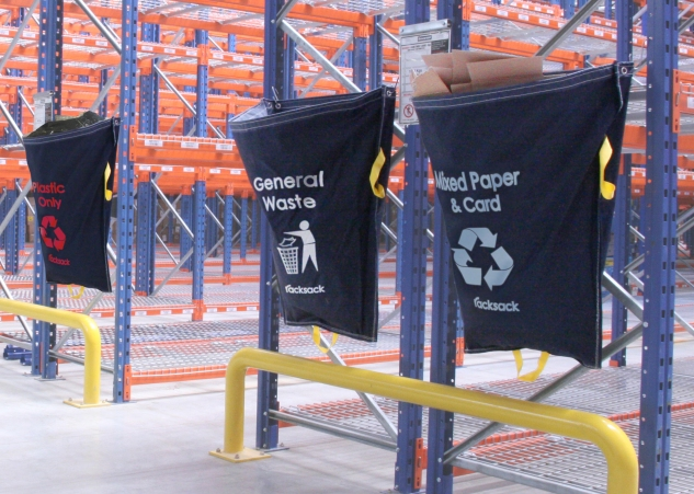 3 End of Aisle Racksacks. Waste Management