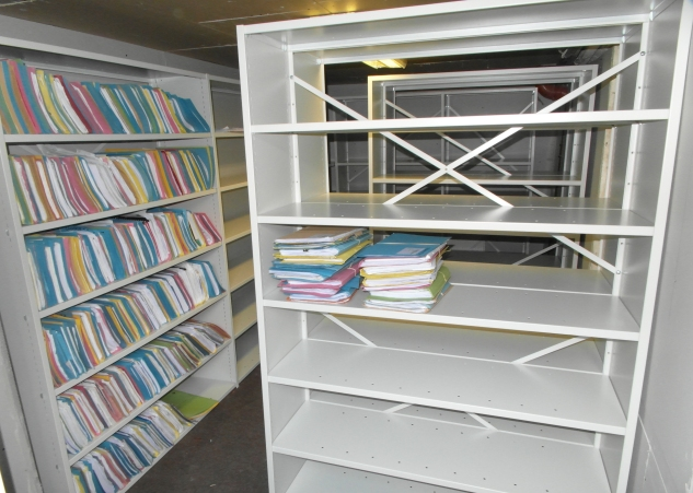 Open or Cladded Back shelving