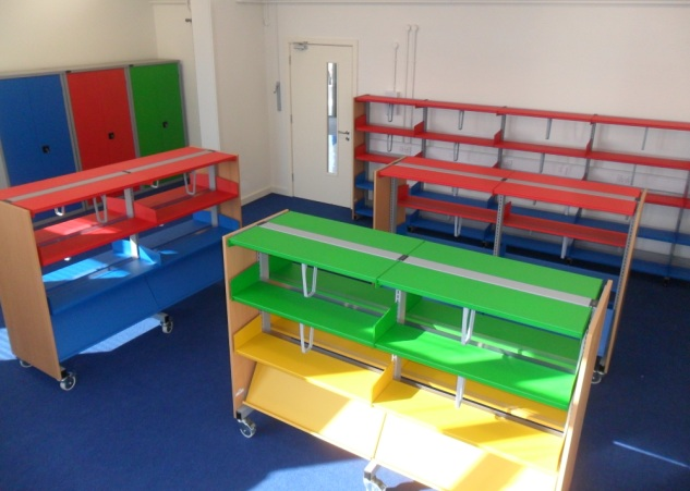 School Library shelving - various sizes and colours