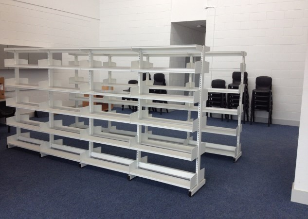 Free standing shelving solutions