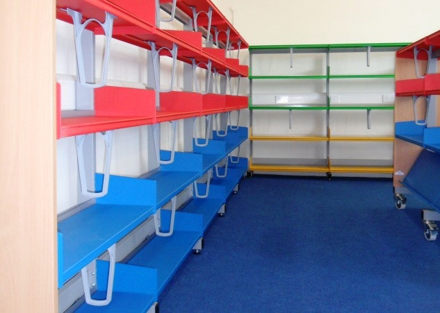 Colourful Library Shelving