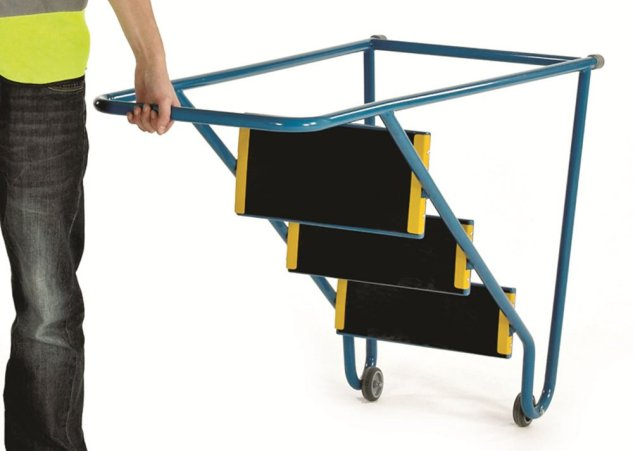 Tilt and Pull Heavy Duty Steps