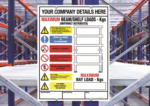 Weight Loading Identification Signage